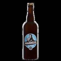 Bière blanche MARKUS 4.7°, bouteille de 75cl