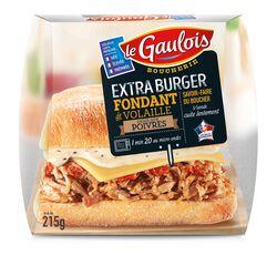 Extra Burger éffiloché Sauce au Poivre, LE GAULOIS, Origine France, 1 pièce, Barquette, 215g,