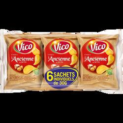 Chips à l'ancienne au sel fin VICO, 6 sachets de 30g