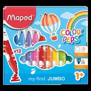 Maped Feutre De Coloriage Maped Color Peps Jumbo, Pack De 12, Colorisassortis