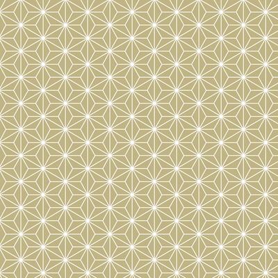 Serviettes HAPPY PAPER asanoha, 3 plis, gold, 20 unités