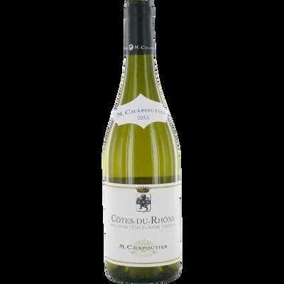 Côtes du Rhône AOP blanc MICHEL CHAPOUTIER, bouteille de 75cl