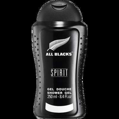 Gel douche pour homme spirit ALL BLACKS, flacon de 250ml