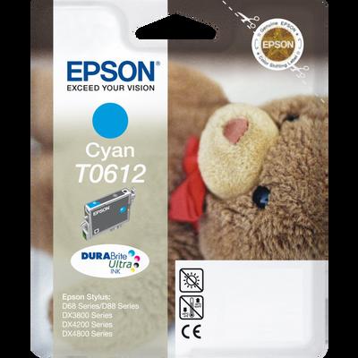 Cartouche d'encre EPSON pour imprimante, T0612 cyan Nounours, sous blister