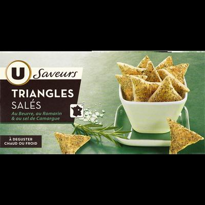 Triangles au romarin et au sel de Camargue U SAVEURS, boîte de 60g