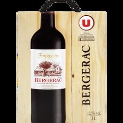 Vin rouge AOC Bergerac Fonsecoste U, fontaine à vin de 3l