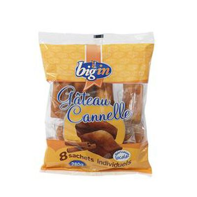 Gâteau cannelle X 8, BIG'IN ,280g