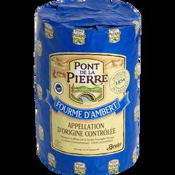 Fourme d'Ambert AOP au lait entier pasteurisé LE PONT DE LA PIERRE, 29% de MG