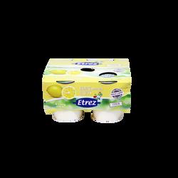 Yaourt au lait entier au citron ETREZ, 4x125g