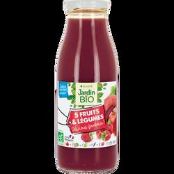 5 fruits et légumes délicious framboise 100% bio JARDIN BIO 50cl
