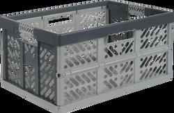 Casier pliant 45l 54x37x28cm gris/anthracite