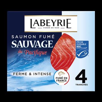 Labeyrie Saumon Fumé Sauvage Pacifique Labeyrie, X4, 120g