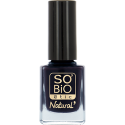Vernis à ongles, soin et couleur, à l'huile de ricin biologique 13 bleu denim - Sans étui