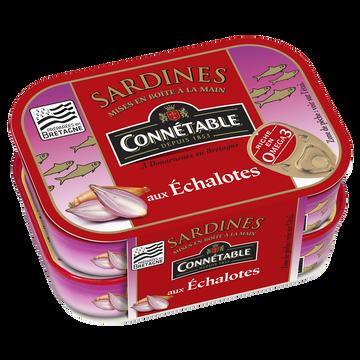 Connetable Sardines Entières À L'huile D'olive Et Aux Échalotes Connétable, 2 Boîtes De 115g