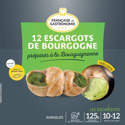 Escargots de Bourgogne très gros COUBEYRE, barquette aluminium 12 pièces, 125g