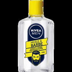Huile à barbe adoucit la barbe et absorption rapide NIVEA men, flaconde 75ml