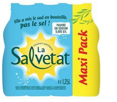 EAU GAZ.SALVETAT 8X1,25L MAX.P