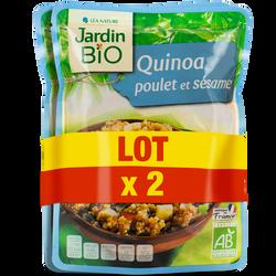 Quinoa émincé poulet & sésame bio JARDIN BIO doypack 2x250g