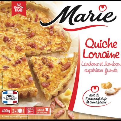 Quiche Lorraine à la crème fraîche MARIE, 400g