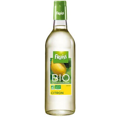 Sirop au citron bio FRUISS BIO, bouteille de 500ml
