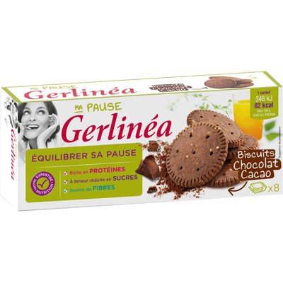 Biscuits au chocolat cacao GERLINEA, 150g