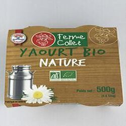 Yaourt bio nature 500g FERME COLLET