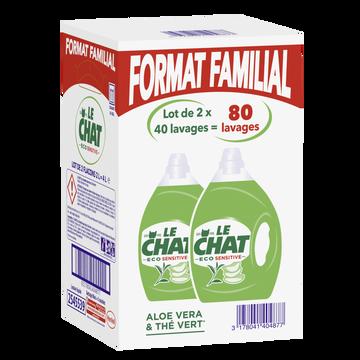 Le Chat Lessive Liquide Éco-sensitive Le Chat, 2x2l Soit 40 Lavages