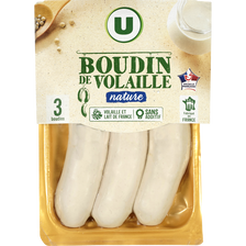 Boudin blanc de volaille supérieur U, 3 portions, 300g