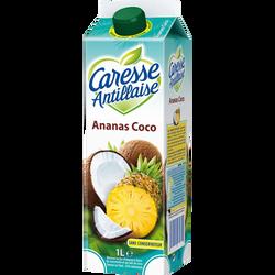 Nectar pasteurisé ananas et coco CARESSE ANTILLAISE, 1l
