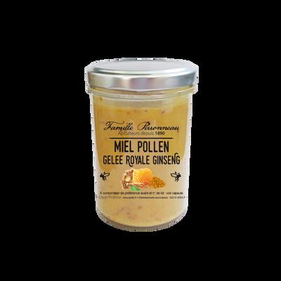 Miel pollen gelée royale et giseng FAMILLE PERRONNEAU, 250g