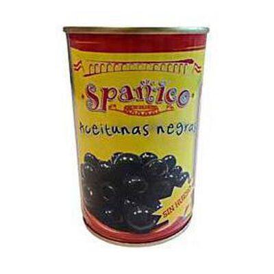 Olives noires dénoyautées SPANICO, boîte de 115g