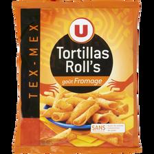 Tortillas roll's goût fromage U, paquet de 125g