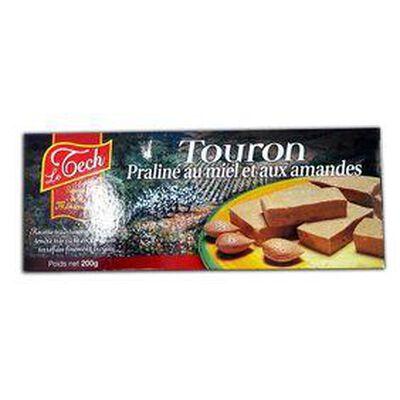 TOURON PRALINÉ, au miel et aux amandes, LE TECH 200G