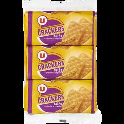 Crackers salés U, 3 paquets de 100g