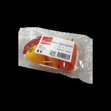 Mini poivrons tricolores, catégorie 2, France, barquette 200g
