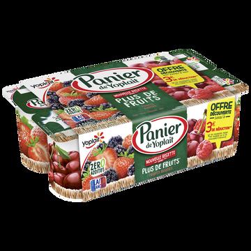 Yoplait Yaourt Sucré Aux Fruits Rouges Panier De Yoplait, 8x130