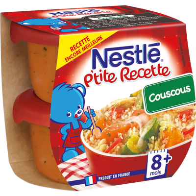 P'tite Recette couscous, NESTLE, 2 bols de 200g