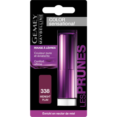 Rouge à lèvres Color sensational 338 midnight plum Gemey M.