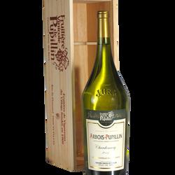 Abrois-pupillin Chardonnay FRUITIERE VINICOLE DE PUPILLIN, coffret bois magnum de 1.5l