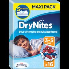 Chouches culottes Dry Nites boy HUGGIES, x16, 16 à 23kg (3-5 ans)