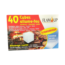 Cubes allume tous feux économique FLAM'UP, boite de 40
