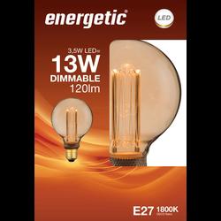 Led déco rétro 13w e27 doré ENERGETIC-G95-3,5w-120ml-1800k