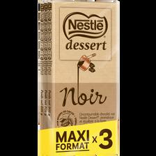 Nestlé Chocolat Noir  Dessert, 3 Tablettes De 205g