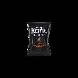 Chips cuites à la main poivre noir KETTLE, sachet de 150g