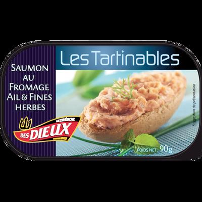 Tartinable au saumon au fromage ail & fines herbes LE TRESOR DES DIEUX, 90g