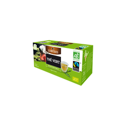 Thé vert bio de Chine ESCALE EQUITABLE, 25 sachets, 50g