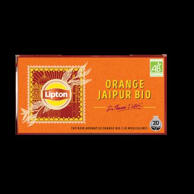 Thé noir aromatisé orange bio LIPTON, 34g