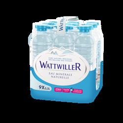 Eau minérale naturelle WATTWILLER, 9 bouteilles de 50cl