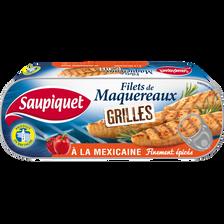 Filets de maquereaux grillés à la mexicaine SAUPIQUET, 1/4 120g