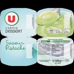 Crème dessert saveur pistache U, 4x125g